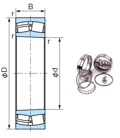 22212AEXK Spherical Roller Bearings 60*110*28mm