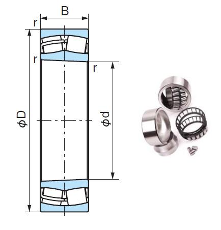 22244EK Spherical Roller Bearings 220*400*108mm