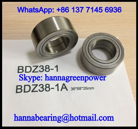BDZ38-1J Wheel Hub Bearing / Double Row Ball Bearing 38x68x26mm