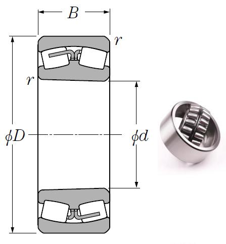 23168BK Spherical Roller Bearings 340*580*190mm