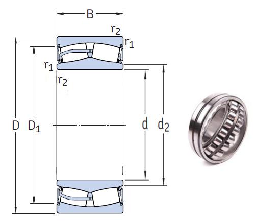 23130-2CS5/VT143 Spherical Roller Bearings 150*250*80mm