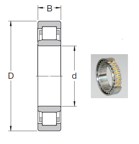 NU 1064 MA Cylindrical Roller Bearings 320*480*74mm