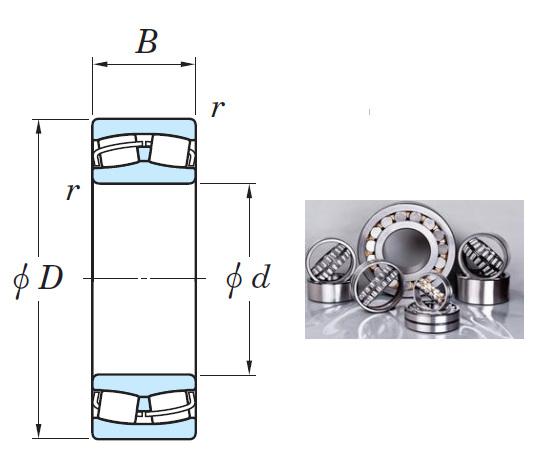 22316RHR Spherical Roller Bearings 80*170*58mm