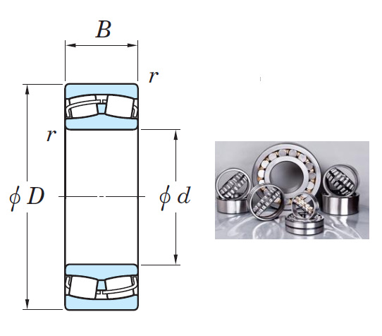 24034RH Spherical Roller Bearings 170*260*90mm