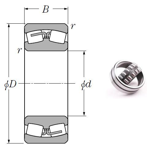 23988 Spherical Roller Bearings 440*600*118mm