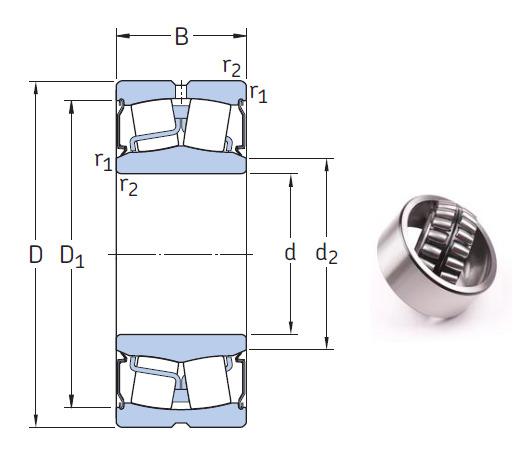 BS2-2224-2CS5/VT143 Spherical Roller Bearings 120*215*69mm