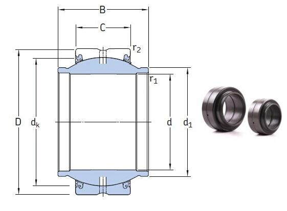 GEM 45 ES-2RS bearings Manufacturer, Pictures, Parameters, Price, Inventory status.