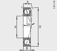 B7008-C-T-P4S bearing 40X68X15mm