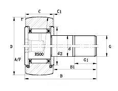 KR19 KR19-PP Yoke Type Track Roller Bearings