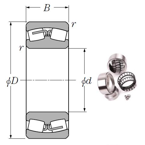 24140B Spherical Roller Bearings 200*340*140mm