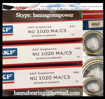 NU1020MA Cylindrical Roller Bearing 100x150x24mm