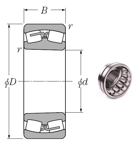 23064BK Spherical Roller Bearings 320*480*121mm