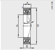 HCS7024-E-T-P4S bearing 120X180X28mm