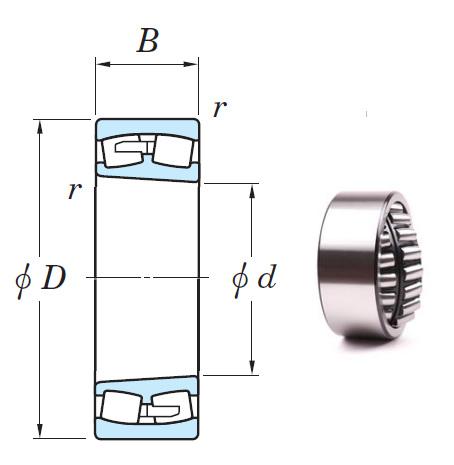 23044RK Spherical Roller Bearings 220*340*90mm