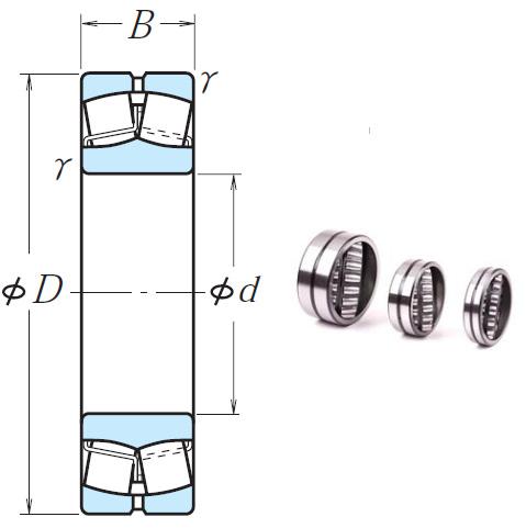 22218EAE4 Spherical Roller Bearings 90*160*40mm