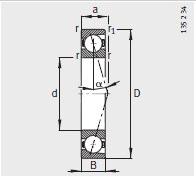 B7219-E-T-P4S bearing 95X170X32mm