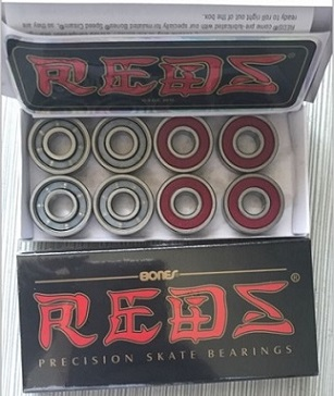 Bones Reds nylon cage skateboard bearing 608-RS 8*22*7MM