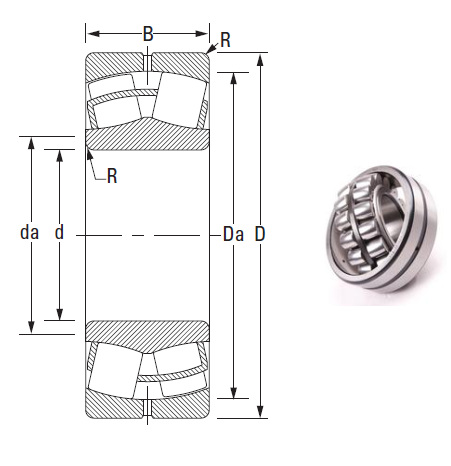 the most novel spherical roller bearing 22230CJ 140*270*73mm