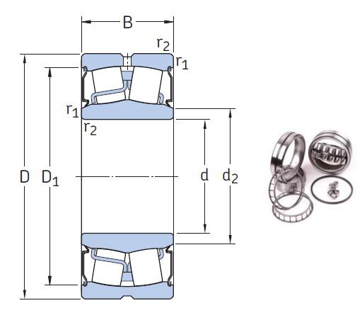 BS2-2214-2CSK the most novel spherical roller bearing 70*125*38mm