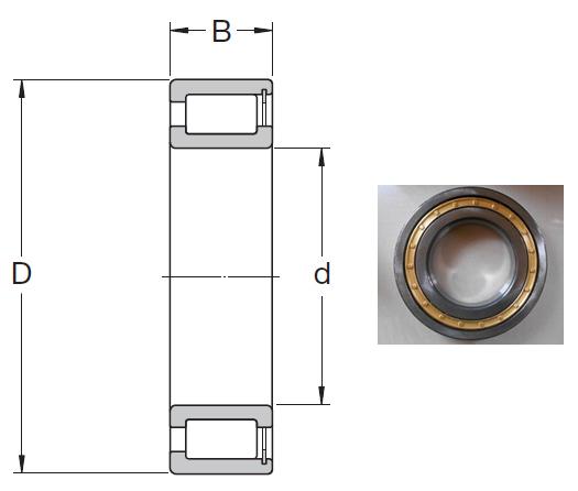 NCF 2972 CV Cylindrical Roller Bearings 360*480*72mm