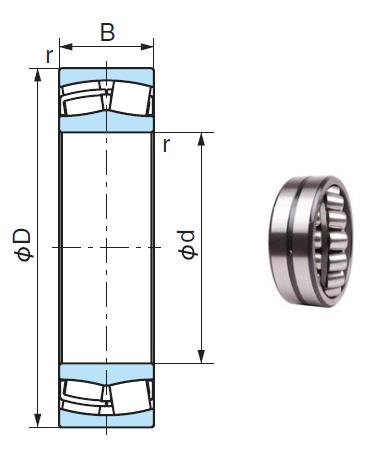 21322AX Spherical Roller Bearings 110*240*50mm