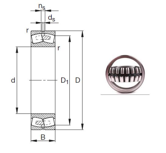 23034-E1A-M Spherical Roller Bearings 170*260*67mm