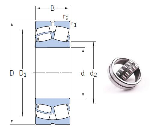 23072 CCK/W33 the most novel spherical roller bearing 360*540*134mm