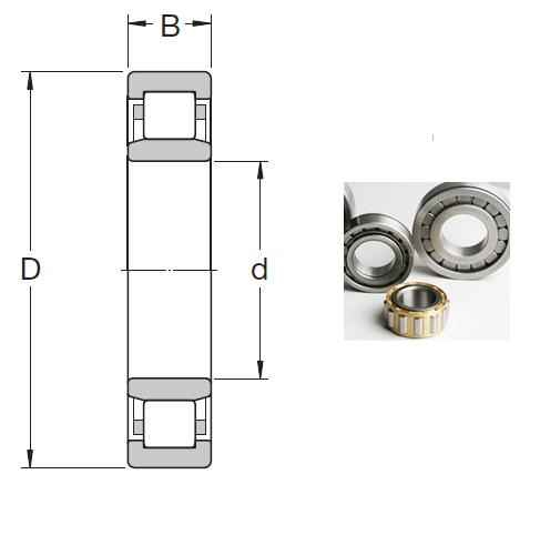 NU 2308 ECML Cylindrical Roller Bearings 40*90*33mm