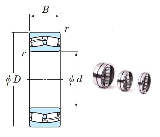 22310RHR Spherical Roller Bearings 50*110*40mm