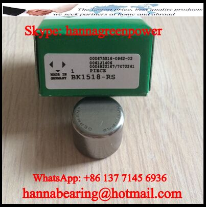 BK1210-RS Closed End Needle Roller Bearing 12x16x10mm