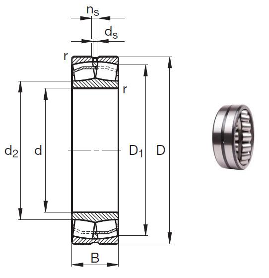 23140-E1 Spherical Roller Bearings 200*340*112mm