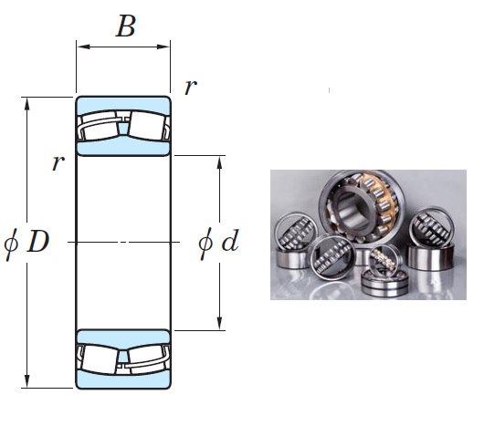 22326RHR Spherical Roller Bearings 130*280*93mm