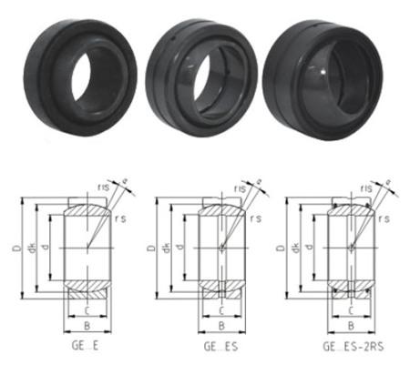 spherical plain bearing GEH60ES-2RS