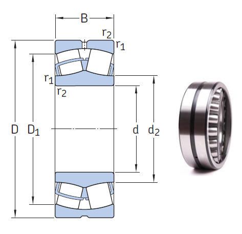 24172 ECCJ/W33 the most novel spherical roller bearing 360*600*243mm