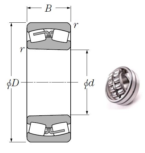 22312BK Spherical Roller Bearings 60*130*46mm