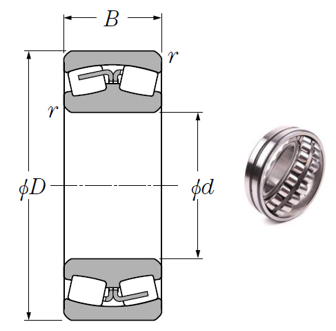 23168B Spherical Roller Bearings 340*580*190mm