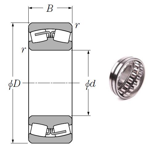 23964 Spherical Roller Bearings 320*440*90mm