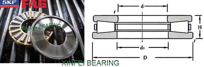 K-T811 Tapered roller thrust bearings 203.2X419.1X92.075mm