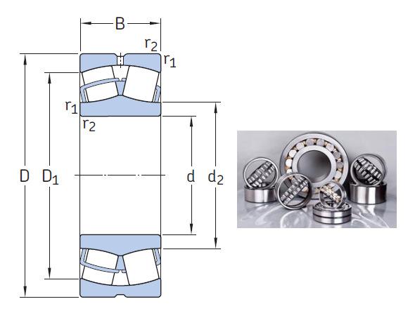 23272 CA/W33 the most novel spherical roller bearing 360*650*232mm