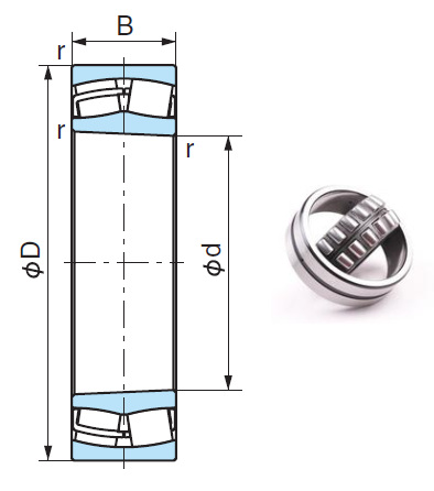 24030AXK Spherical Roller Bearings 150*225*75mm