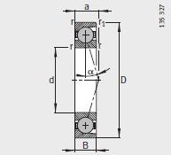 HCB7017-C-T-P4S bearing 85X130X22mm