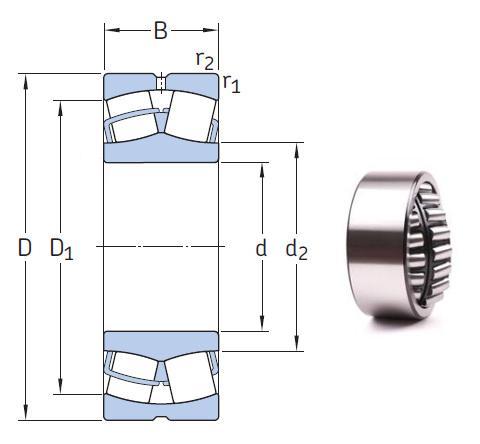 22330 CCKJA/W33VA405 Spherical Roller Bearings 150*320*108mm