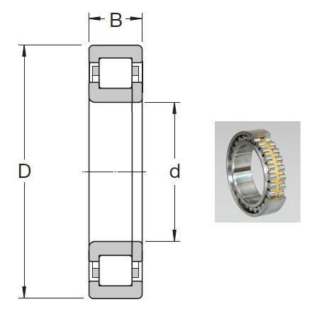 NUP 203 ECML Spherical Roller Bearings 17*40*12mm