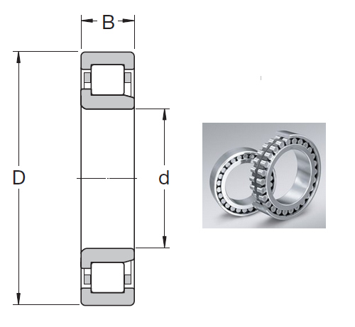 NJ 2218 ECP Cylindrical Roller Bearings 90*160*40mm