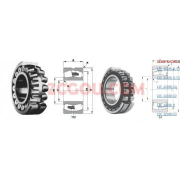 22356, 22356CA/W33, 22356CCK/W33, 22356CAK/W33 Spherical Roller Bearing