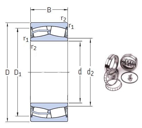 24036-2CS5/VT143 Spherical Roller Bearings 180*280*100mm