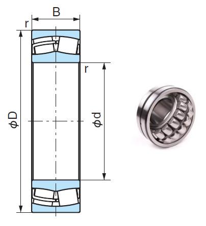 22217EX Spherical Roller Bearings 85*150*36mm