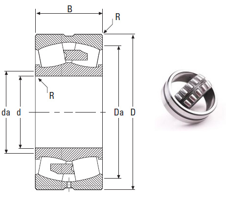 the most novel spherical roller bearing 231/600YMB 600*980*300mm
