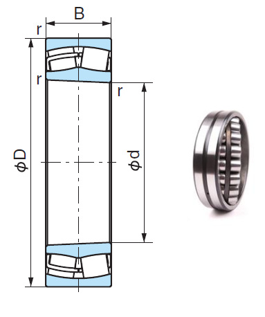 22218EXK Spherical Roller Bearings 90*160*40mm