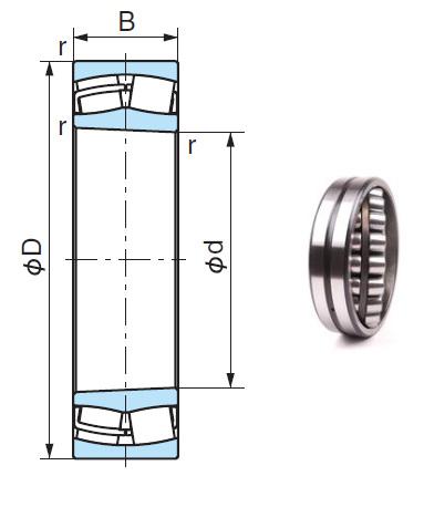 23038A2XK Spherical Roller Bearings 190*290*75mm